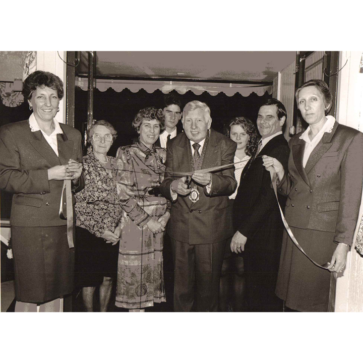 Mayor opening Maison Furnishers (now Dean & Co) new store in 1980