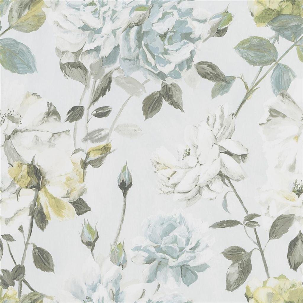 Designers Guild Behang.Designers Guild Jardin Des Plantes Wallpaper Couture Rose Duck Egg