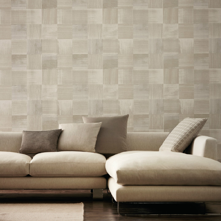 Harlequin's new Wallpaper collection Bloc from the Anthology 02 range. A clever fusion of tessellellating blocks resulting in a series of organic patterns. Available at Dean & co.