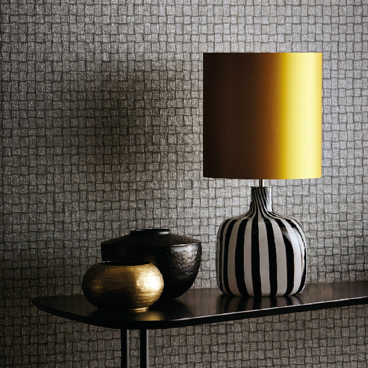 A new collection of wallpapers by Harlequin. The Anthology 02 range includes this pattern Smalti, a textural metallic design inspired y interwoven strips of leather, then embossed to further enhance the structural aspect of the paper. Available at Dean & Co.