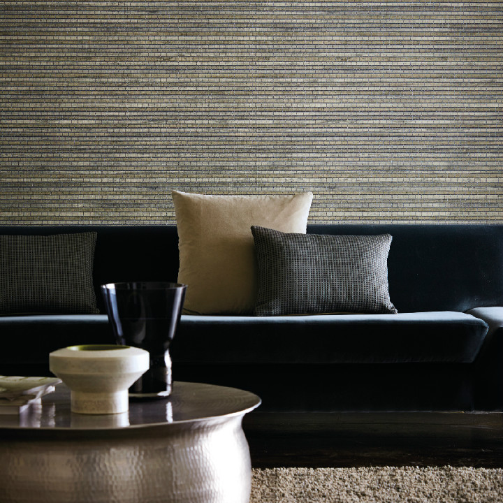 Harlequin Anthology 02 wallpaper collection. The new Reed is an Eastern inspired design combining the natural texture and strength of bamboo reeds to create a basket weave effect. Available at Dean & Co.