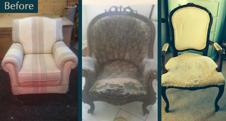 incredible reupholstery battered old chairs brought back to life