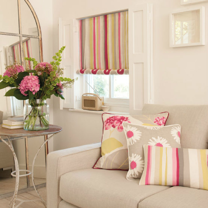 The new collection by Clarke & Clarke. Le Vie En Rose fabric is available at Dean & Co.